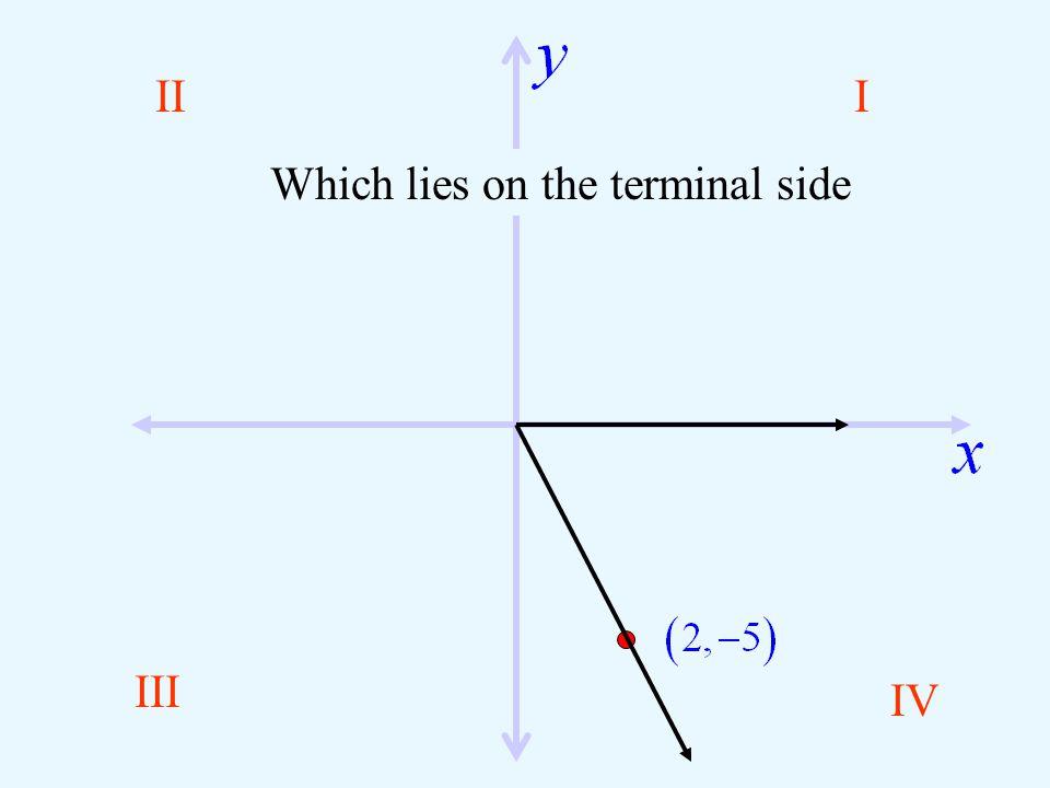 III III IV Angle in Standard Position