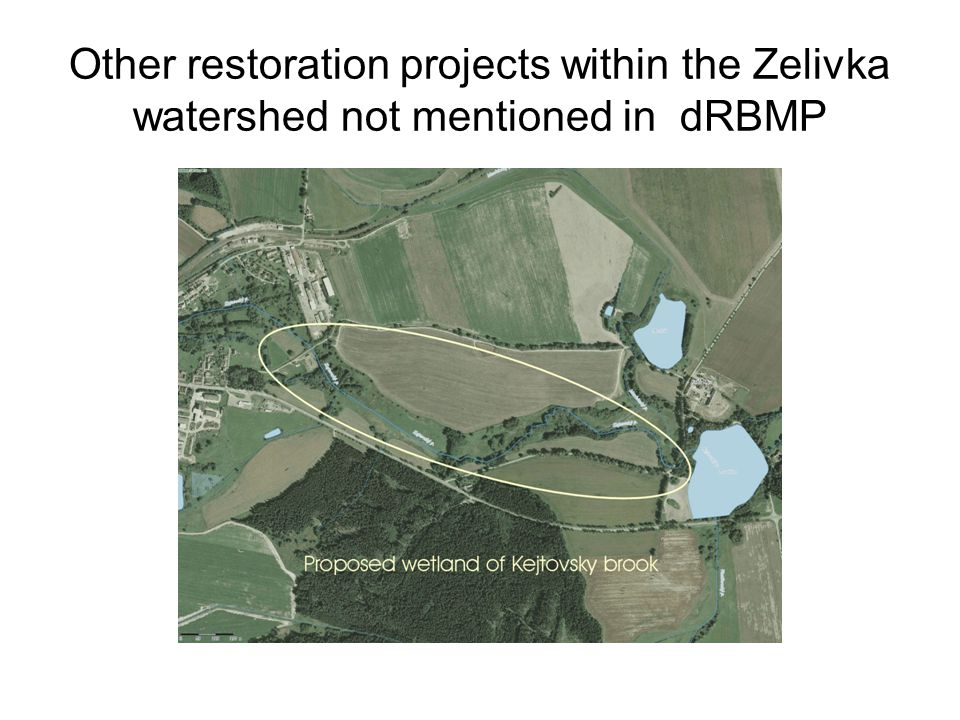 Other restoration projects within the Zelivka watershed not mentioned in dRBMP