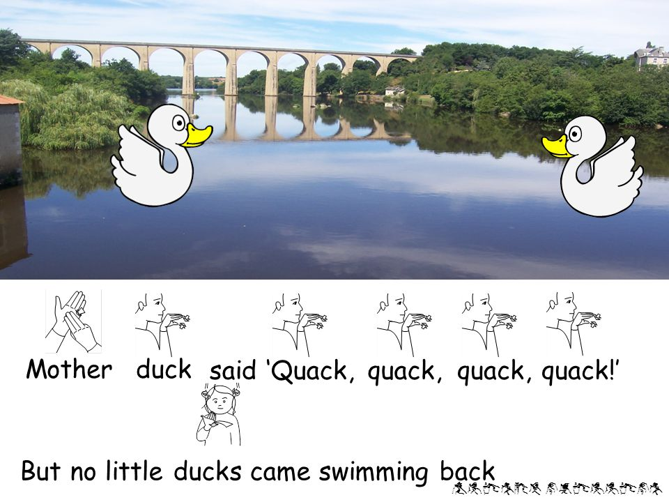Alison phillips little duckwent swimming one day Over the pondand far away One