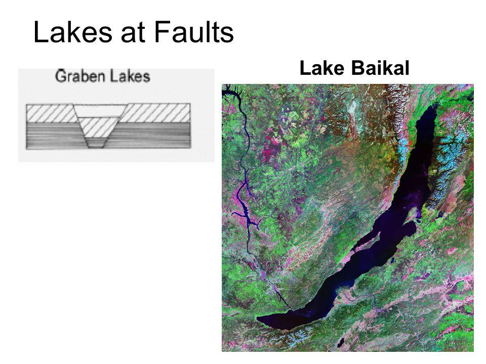 Lakes at Faults Lake Baikal