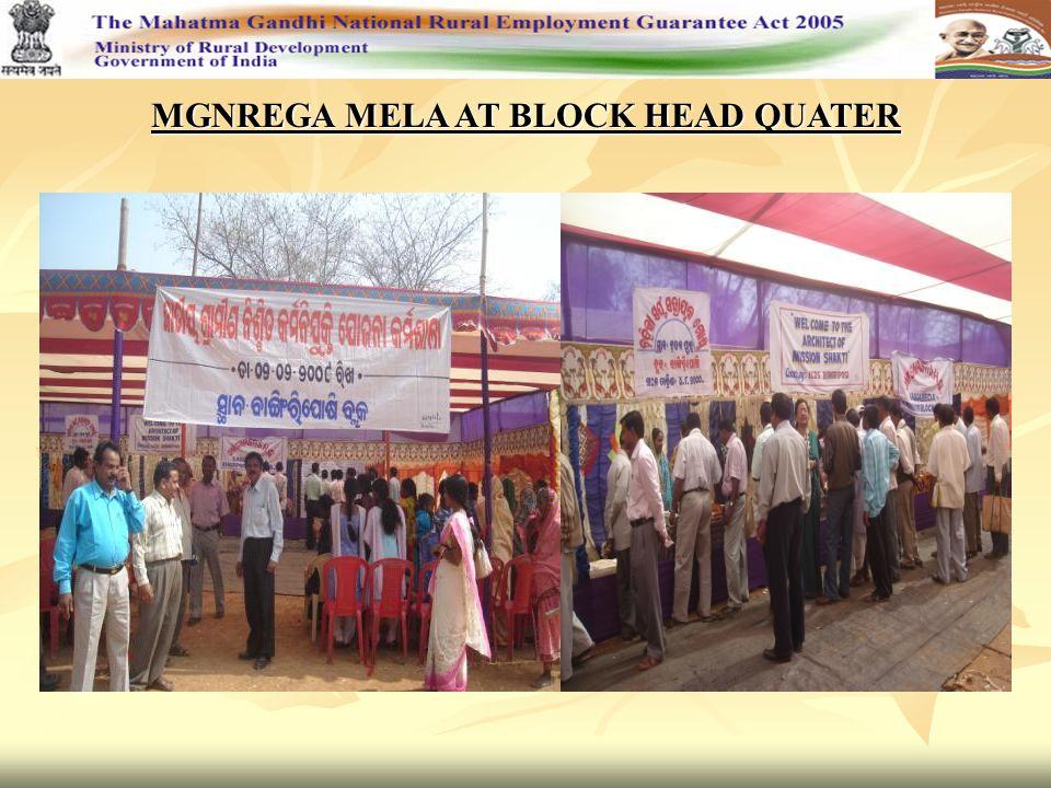 MGNREGA MELA AT BLOCK HEAD QUATER