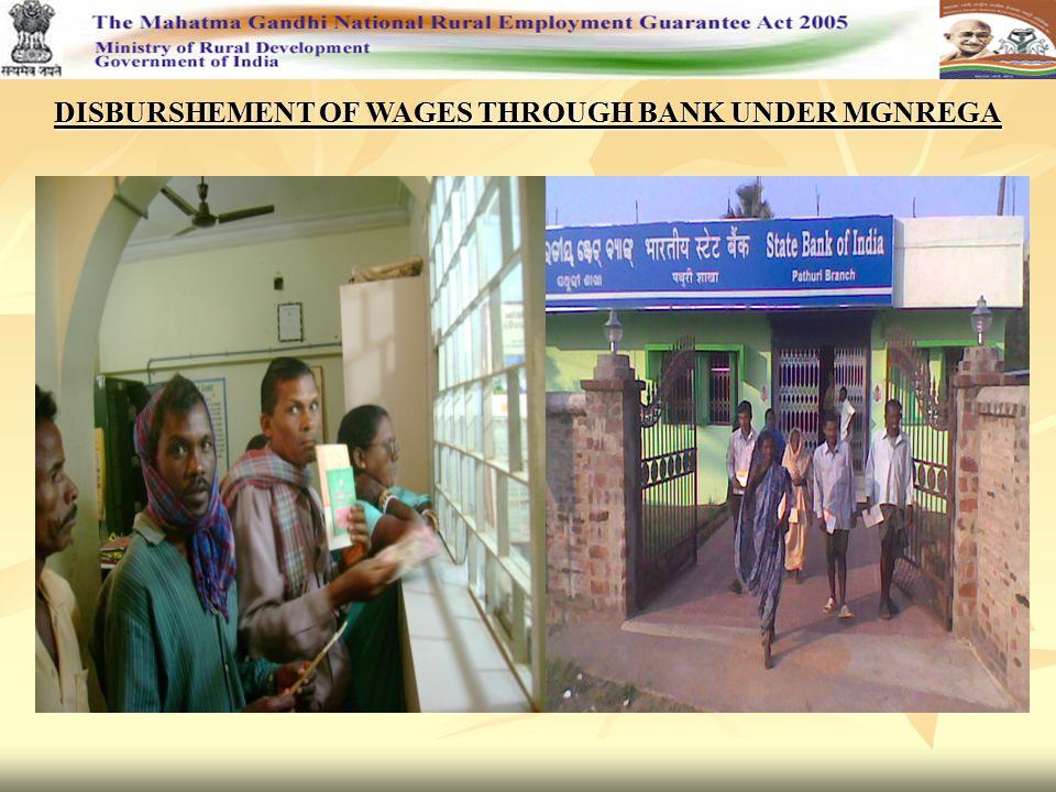 DISBURSHEMENT OF WAGES THROUGH BANK UNDER MGNREGA
