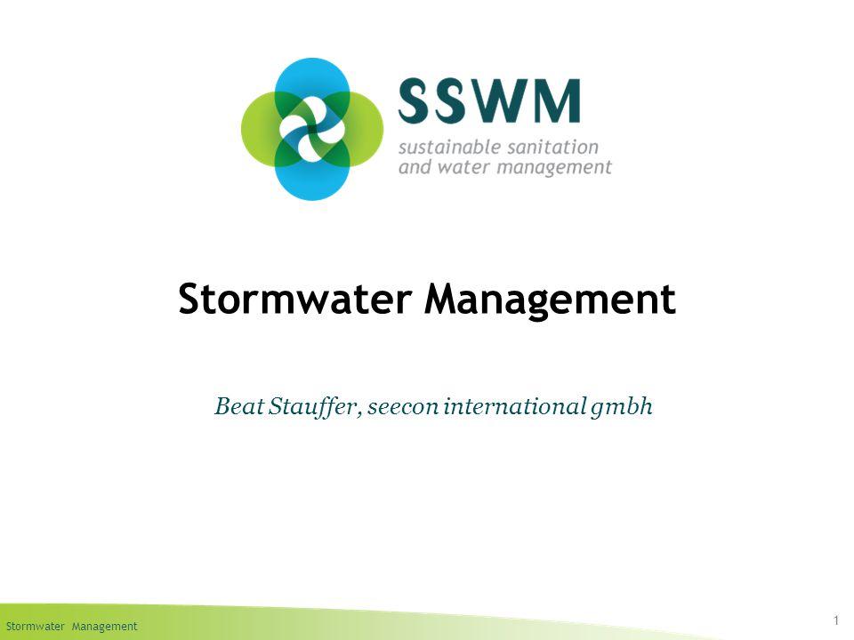 Stormwater Management 1 Beat Stauffer, seecon international gmbh