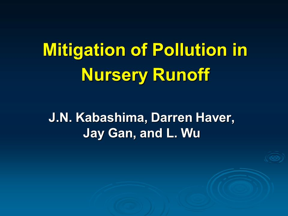 Irrigation Management and Water Quality Collect, Treat and Recycle Open Runoff/Tailwater Recovery Pathogen Detection and Control