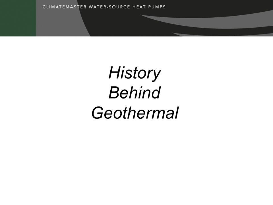 History Behind Geothermal