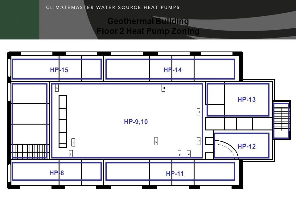 Geothermal Building Floor 2 Heat Pump Zoning HP-8 HP-11 HP-15HP-14 HP-13 HP-12 HP-9,10