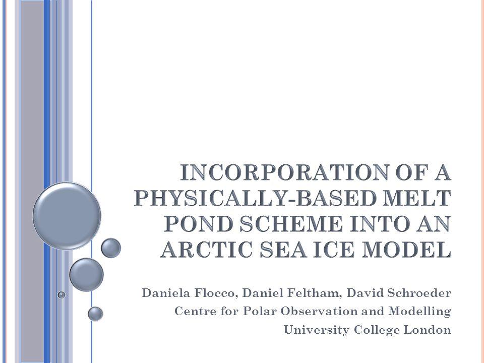 Daniela Flocco, Daniel Feltham, David Schr  eder Centre for Polar Observation and Modelling University College London