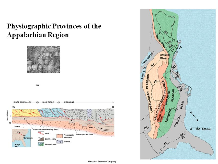 Physiographic Provinces of the Appalachian Region