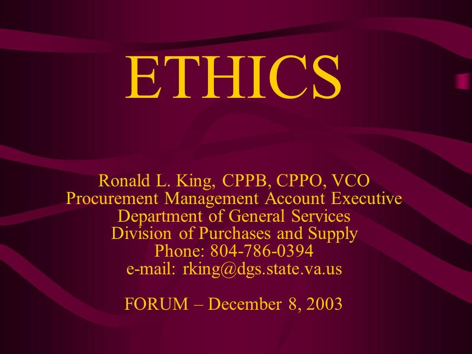 ETHICS Ronald L.