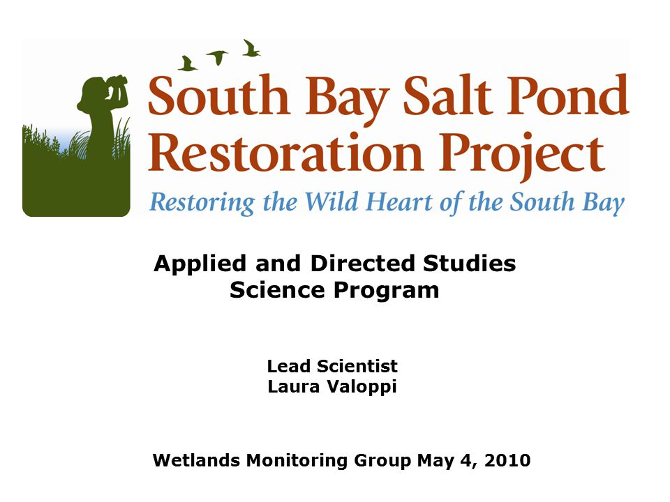 Lead Scientist Laura Valoppi Lead Scientist Applied and Directed Studies Science Program Wetlands Monitoring Group May 4, 2010