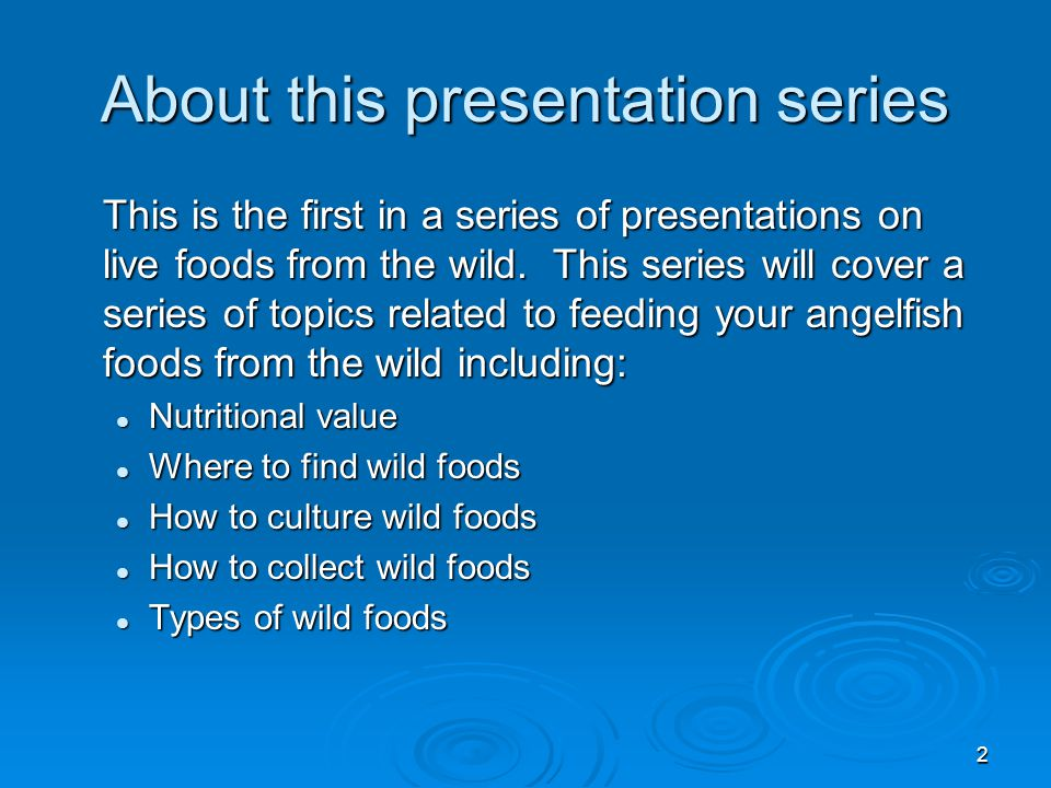 3 Why use wild foods? Let's look at some anecdotal information first.