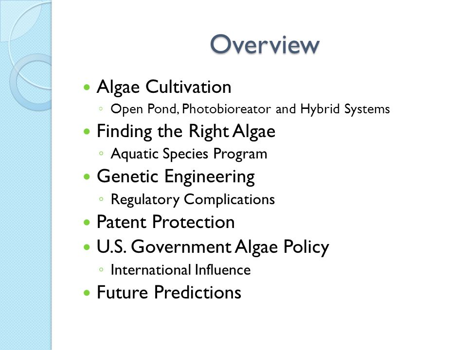 The Pros & Cons of Algae Patents Increased Incentive for Invention IP Assets to Attract Further Investment Big Oil Patent Hunting.