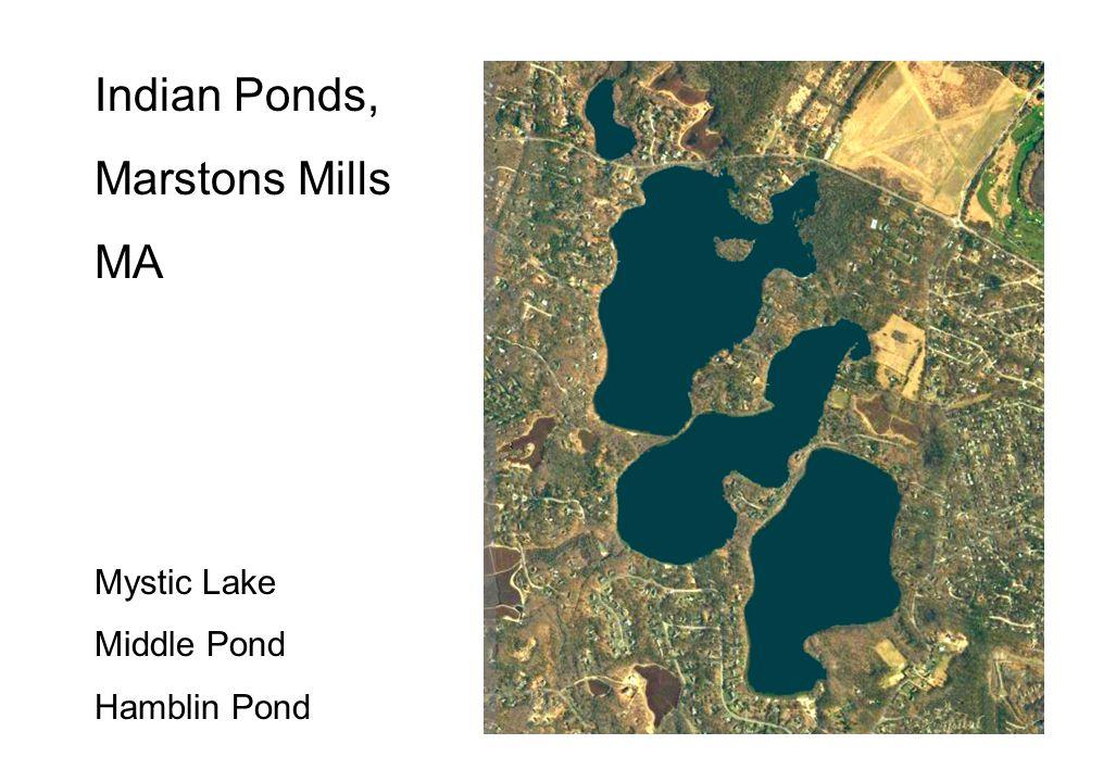 Mystic Lake (top), Middle Pond, Hamblin Pond (bottom)