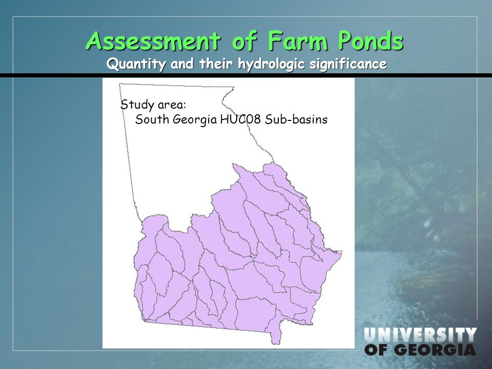 Assessment of man-made ponds  Transects <Pond Clusters: distance to upstream and downstream ponds 6 30% had nearby upstream pond –Half within 0.41 km 6 50% had nearby downstream pond –Half within 0.33 km