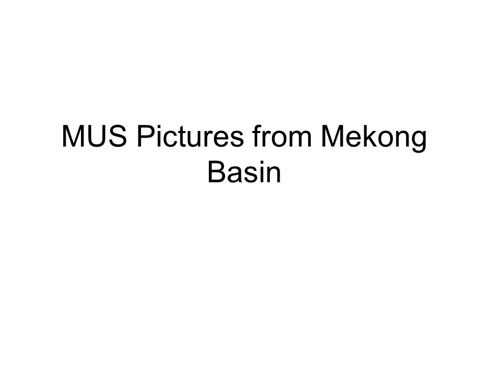 MUS Pictures from Mekong Basin