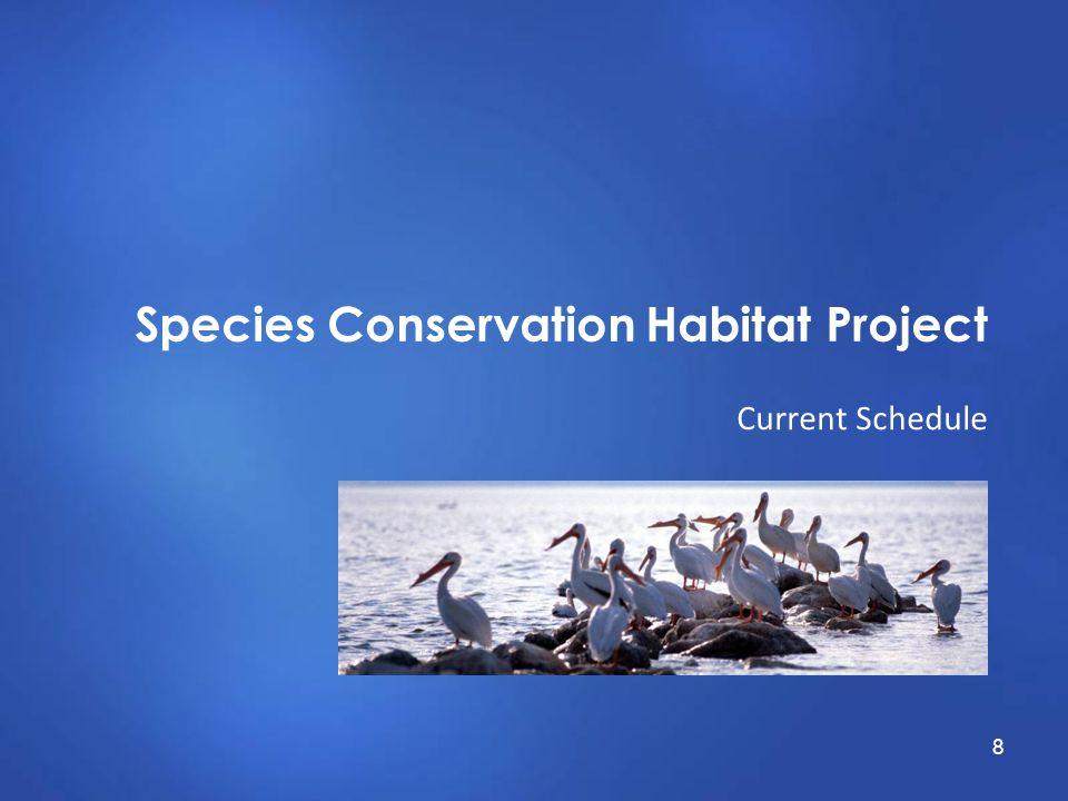 Species Conservation Habitat Project Current Schedule 8
