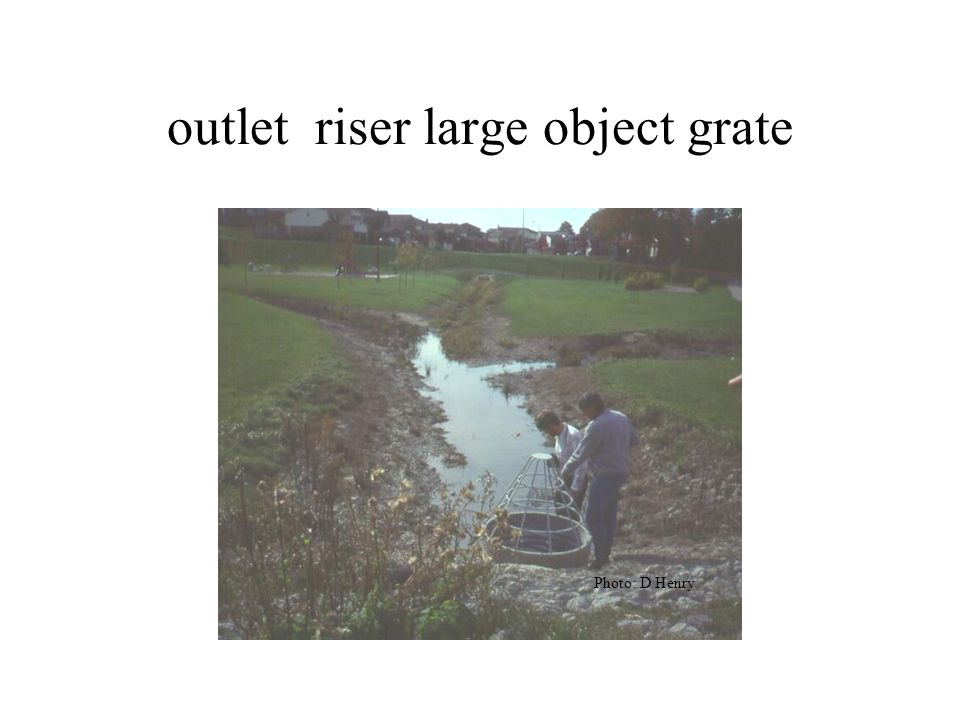 outlet riser large object grate Photo: D Henry