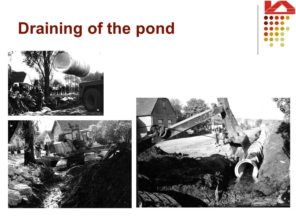 Draining of the pond