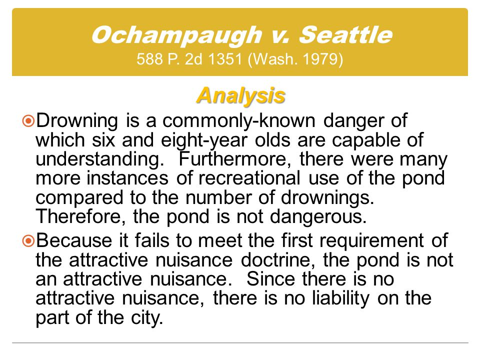 Ochampaugh v. Seattle 588 P. 2d 1351 (Wash.