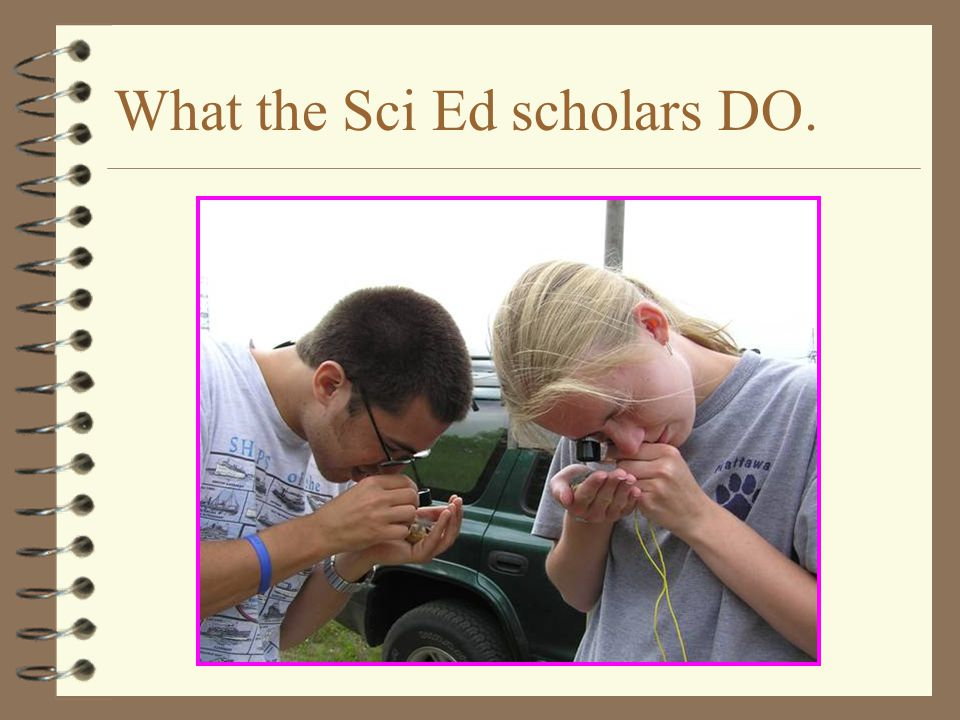 What the Sci Ed scholars DO.