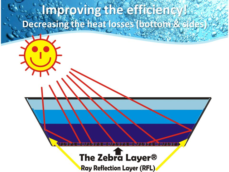 Improving the efficiency! Decreasing the heat losses (bottom & sides)