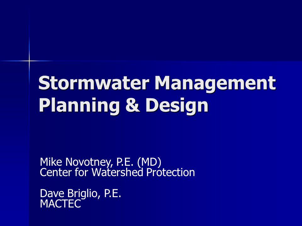 Georgia Stormwater Management Manual Hydrologic Methods & Analysis Dave Briglio, P.E. MACTEC