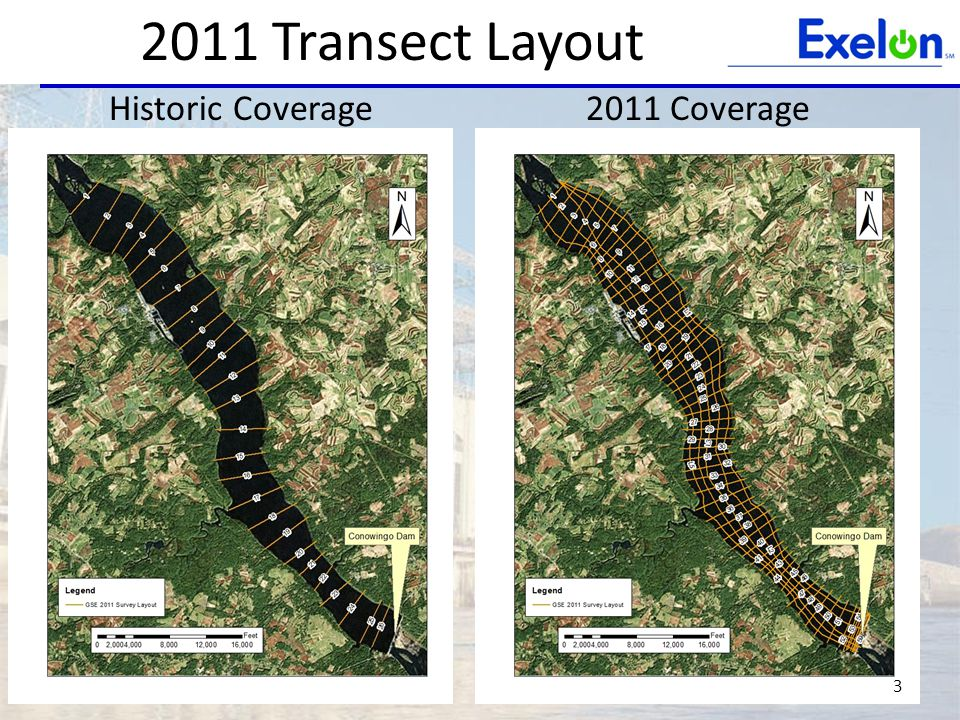 2011 Transect Layout 3 Historic Coverage 2011 Coverage