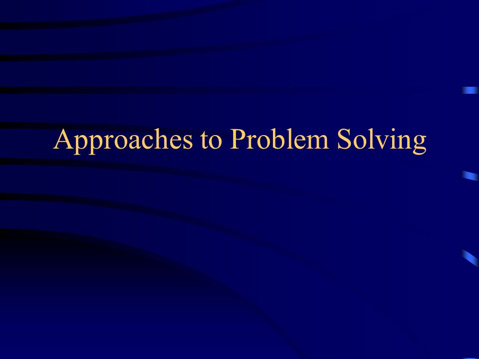 Unnecessary Constraints Effective problem solving requires specifying all the constraints governing a problem without assuming any constraints that don't exist.