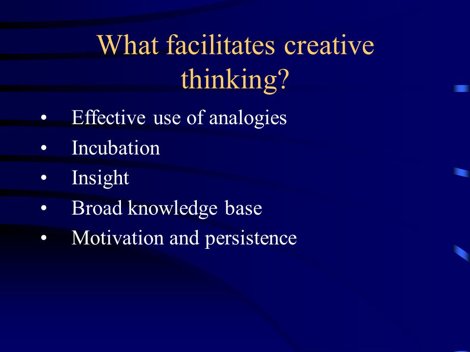Four Principles of Creativity Flexibility – thinking of different kinds of ideas.