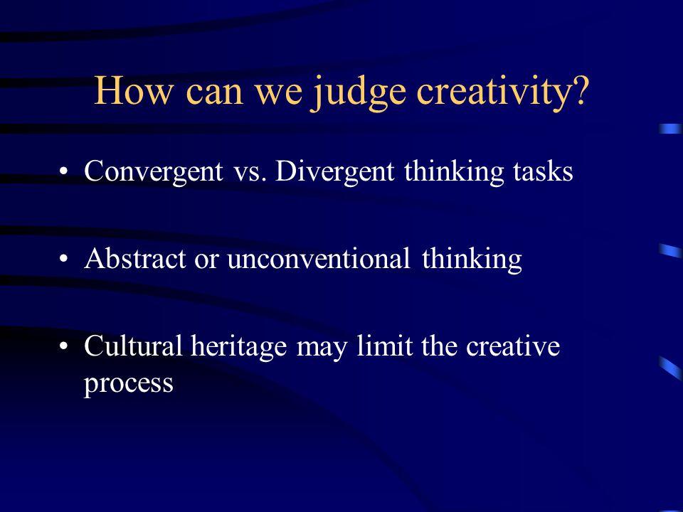 What facilitates creative thinking.