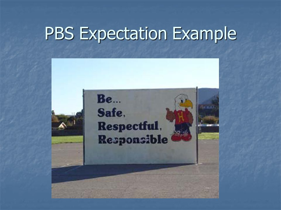 PBS Expectation Example