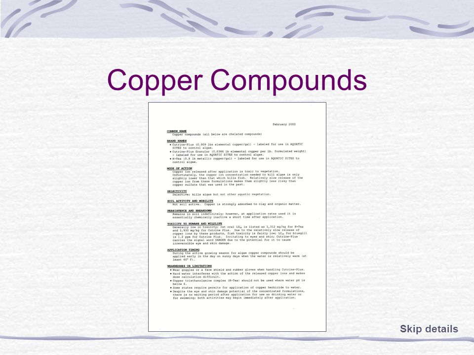 Copper Compounds Skip details