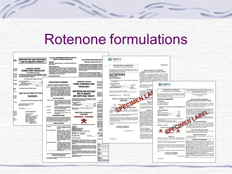Rotenone formulations