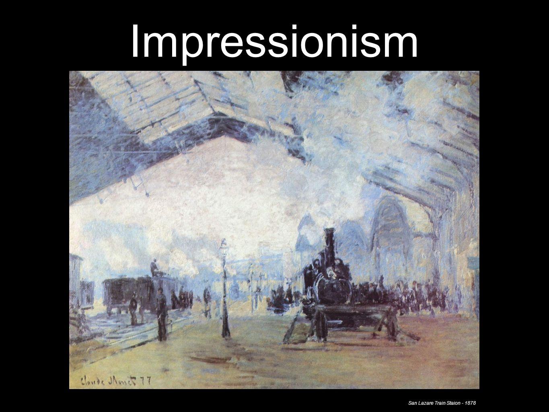 Impressionism San Lazare Train Staion - 1878