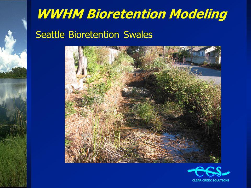 WWHM Bioretention Modeling Seattle Bioretention Swales