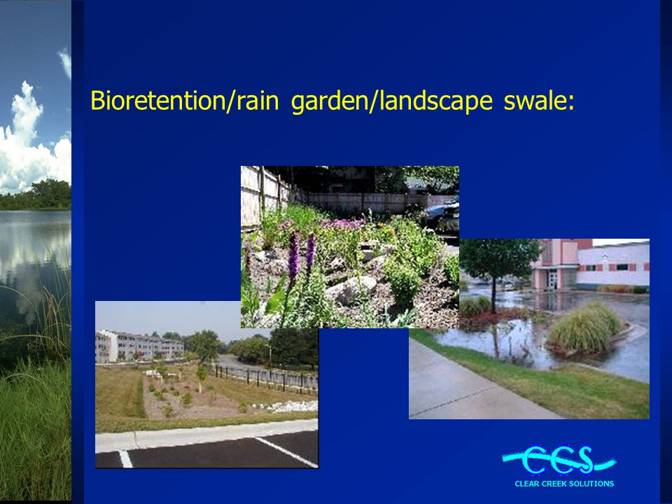 Bioretention Flow Paths Weir Flow Underdrain Flow Vertical Orifice Flow Weir, vertical orifice, and underdrain flow all are subject to Ecology's flow control standard (1/2 of 2-yr to 50-yr).