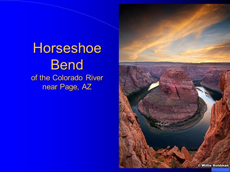 Horseshoe Bend of the Colorado River near Page, AZ
