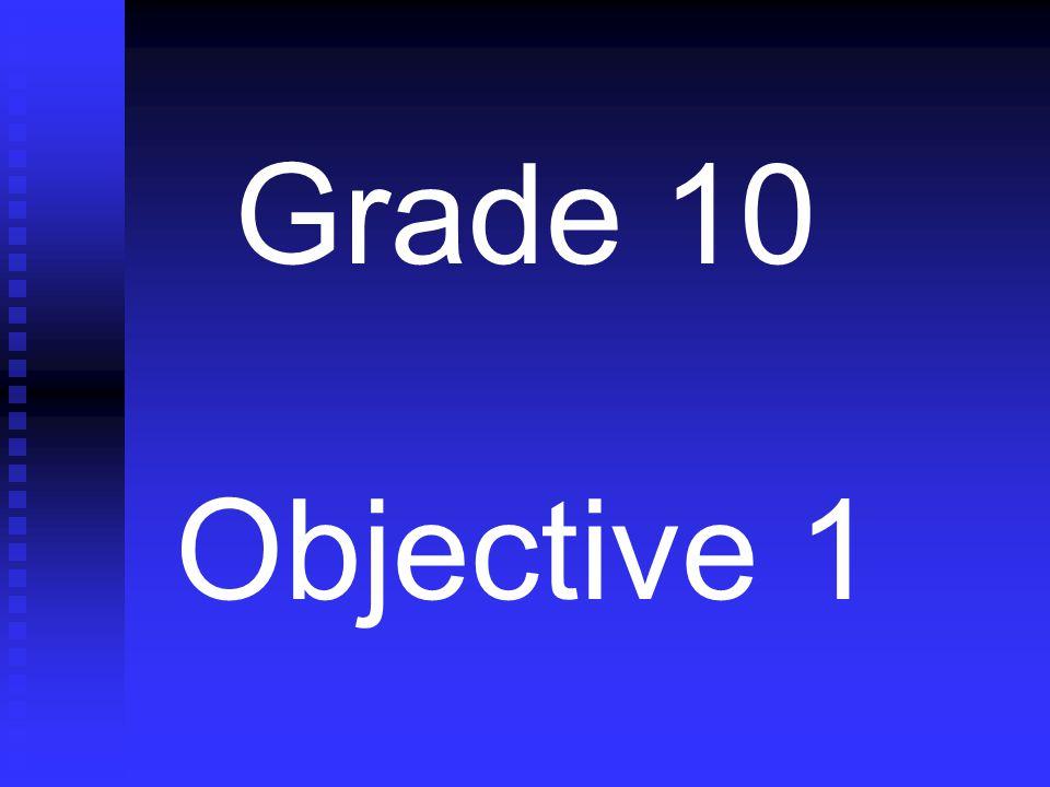 Grade 10 Objective 1