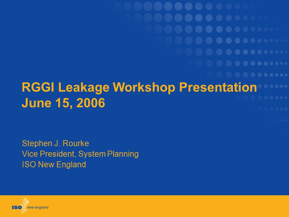 RGGI Leakage Workshop Presentation June 15, 2006 Stephen J.