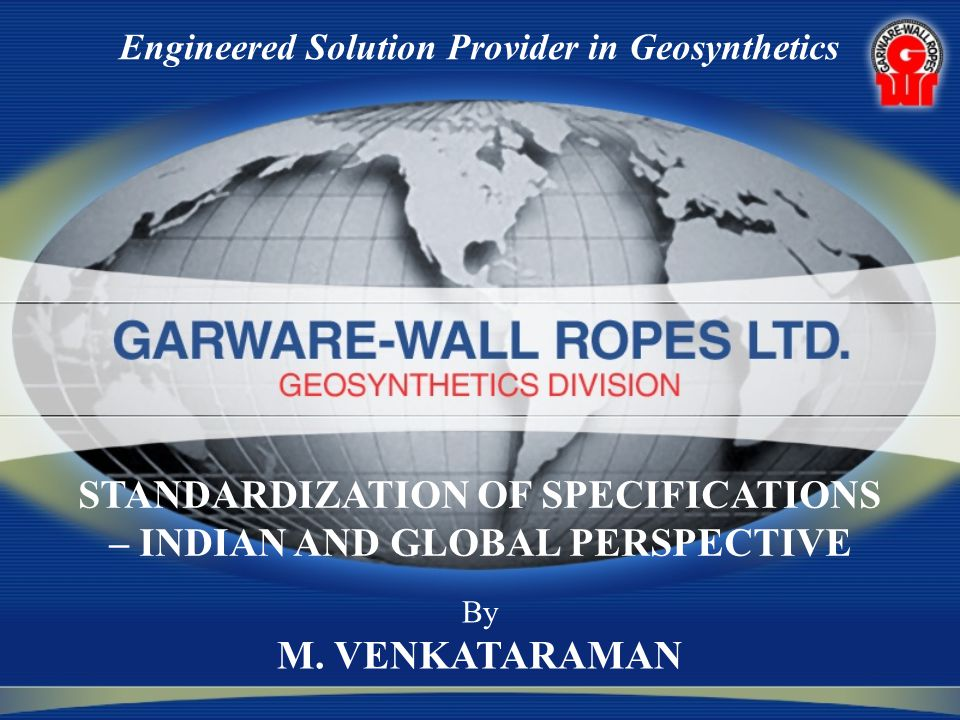 Engineered Solution Provider in Geosynthetics By M.