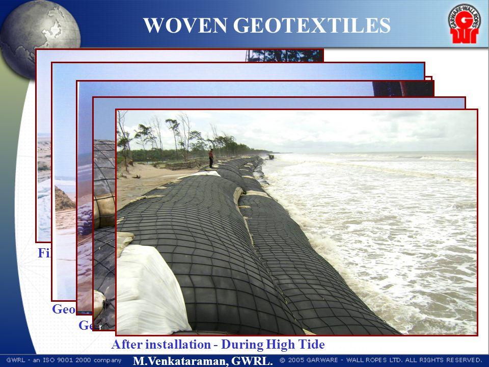 M.Venkataraman, GWRL. GEOTEXTILE TUBE - SHORE PROTECTION Geotextile Tube HWL Geotextile Bags Woven Geotextile Shore Protection Works : Shankarpur to H