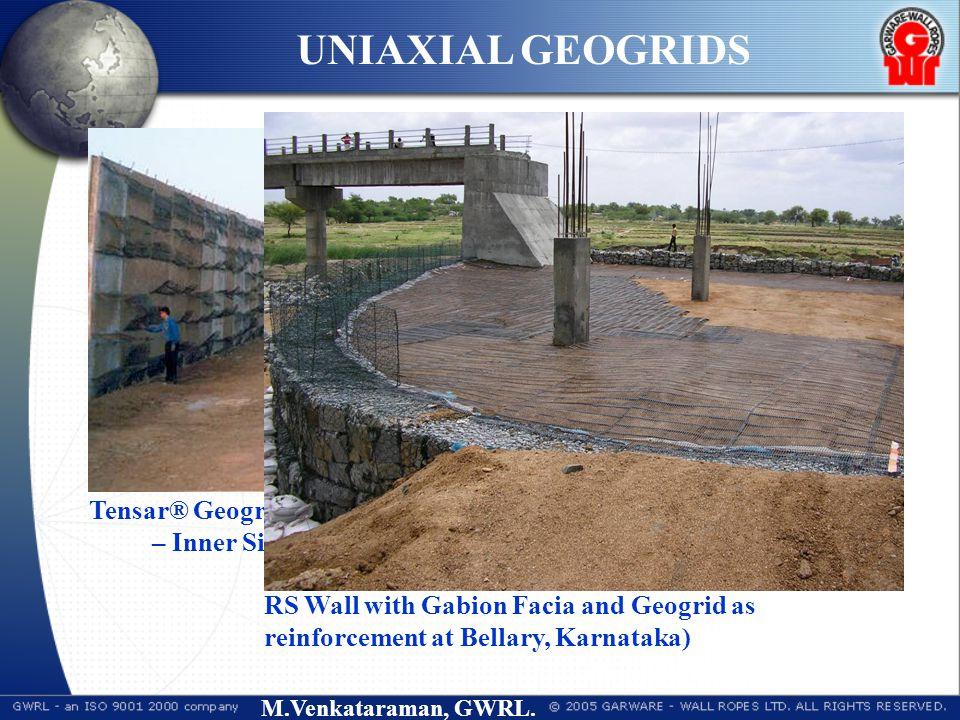 M.Venkataraman, GWRL. Tensar® Geogrid Reinforced Soil Wall System at CSEB, – Inner Side View, towards deck slab (Korba, India) UNIAXIAL GEOGRIDS RS Wa
