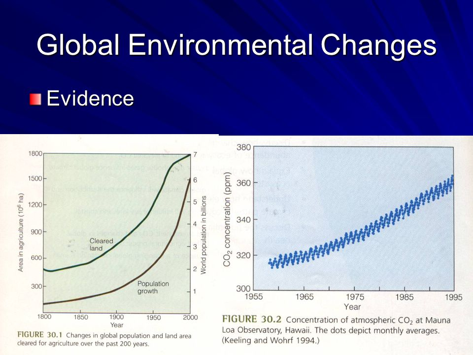 Global Environmental Changes Evidence