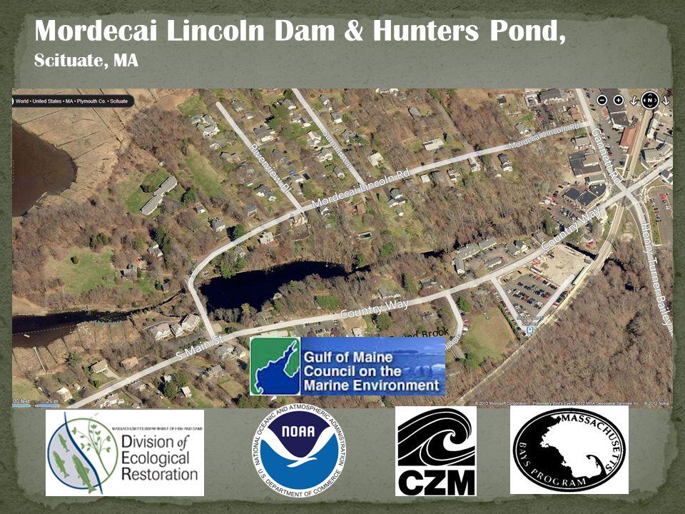 Mordecai Lincoln Dam & Hunters Pond, Scituate, MA Bound Brook