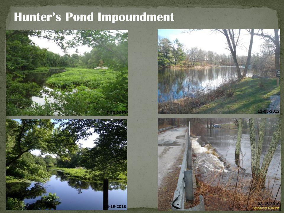 Hunter's Pond Impoundment 7-20-2010 12-05-2012 06-19-2013 02-15-2010