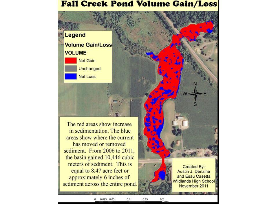 2006 Fall Creek Pond Depth Map