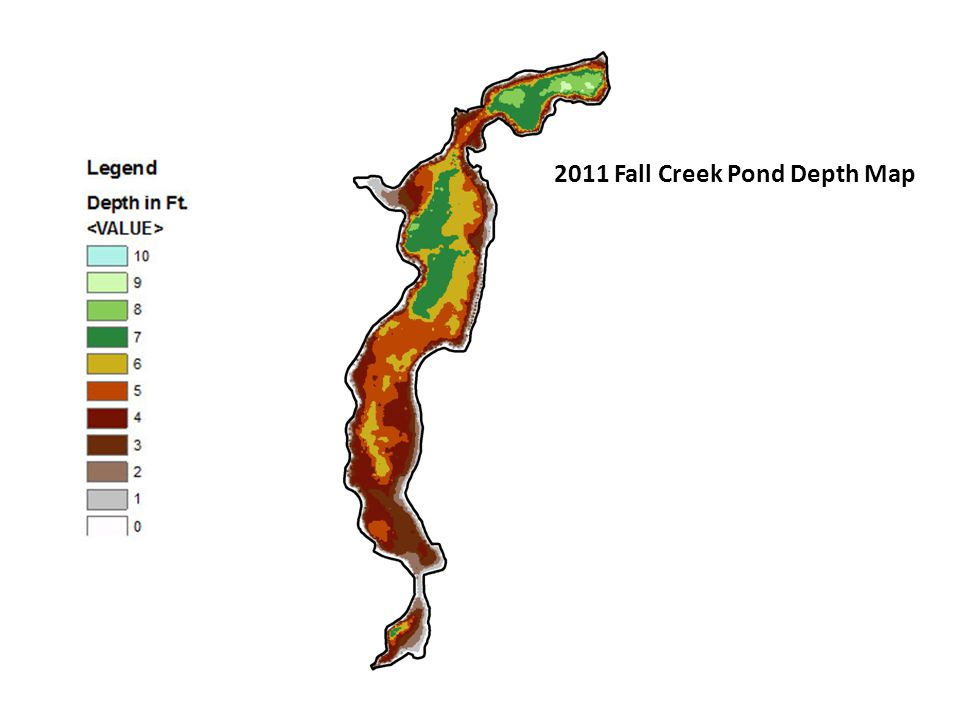 2011 Fall Creek Pond Depth Map