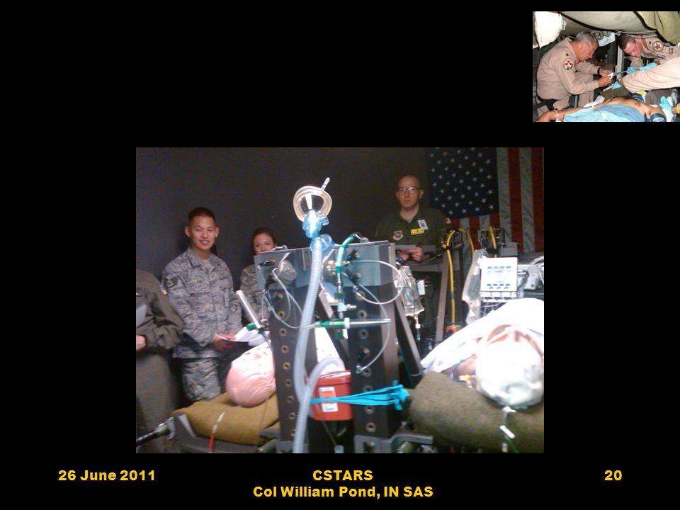 26 June 2011CSTARS Col William Pond, IN SAS 20