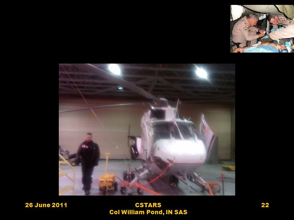 26 June 2011CSTARS Col William Pond, IN SAS 22