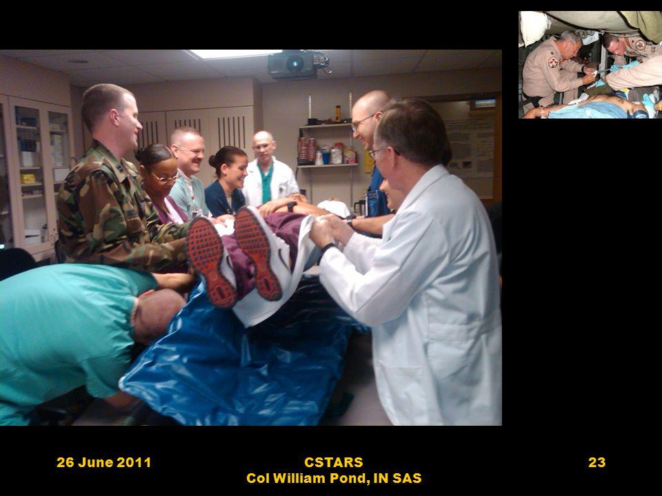 26 June 2011CSTARS Col William Pond, IN SAS 23